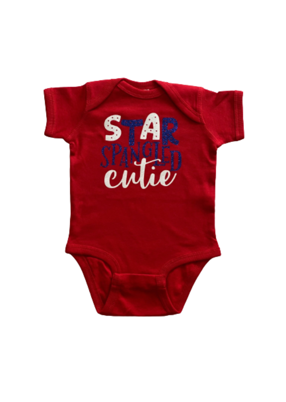 Star Spangled Cutie Short Sleeve Onesie