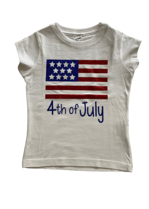 Flag 4th of July Glitter Shirt