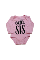 Little Sis Pink Onesie Long Sleeve