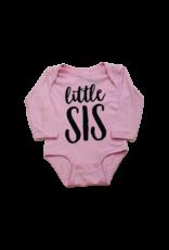 Little Sis Pink Onesie Short Sleeve