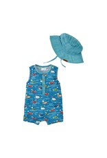 Mallard Pond Romper & Hat