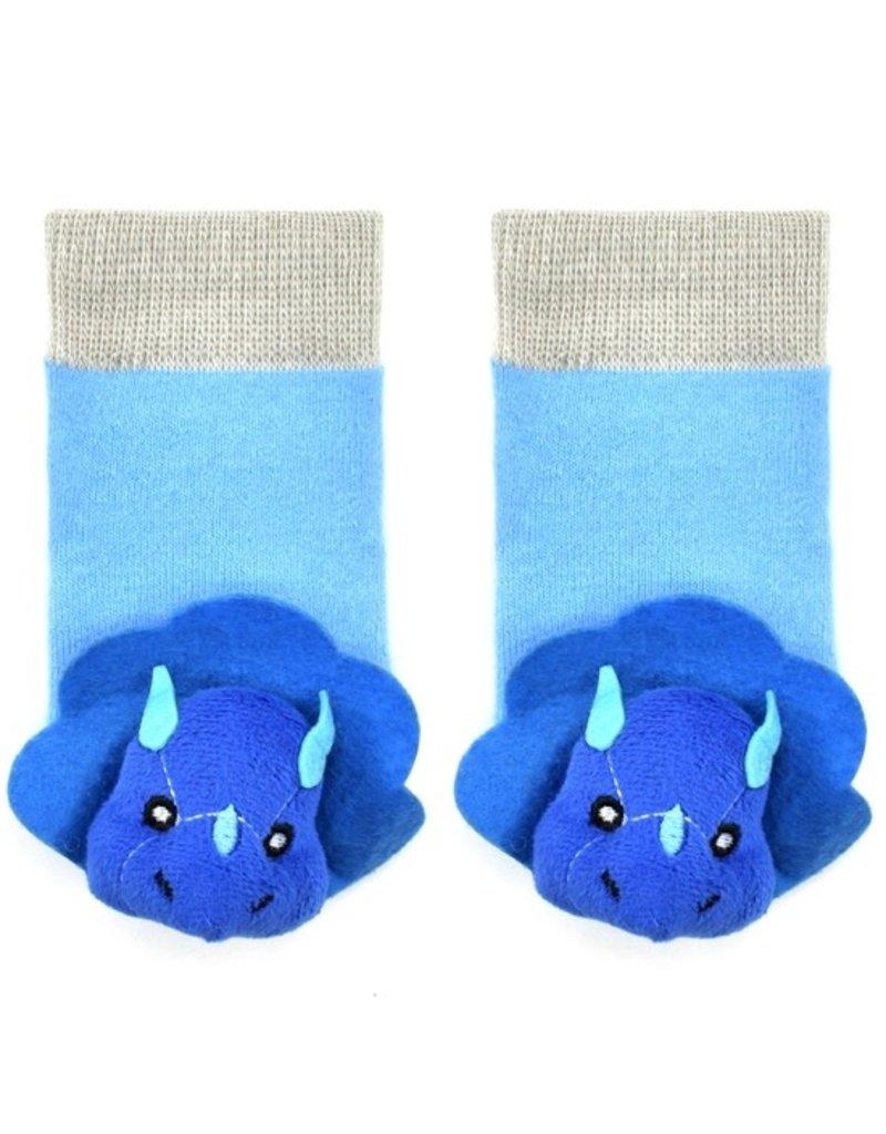 Liventi Blue Tricera Rattle Sock 0-12m