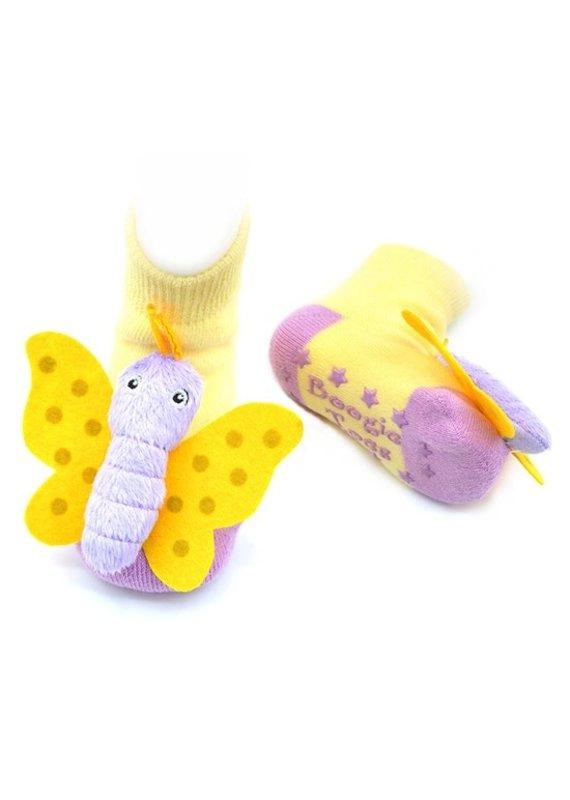 Liventi Butterfly Rattle Socks 0-12m