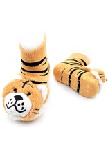 Liventi Tiger Rattle Socks 0-12m