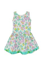 Pastel Floral Cotton Knit Springtime Swing Dress