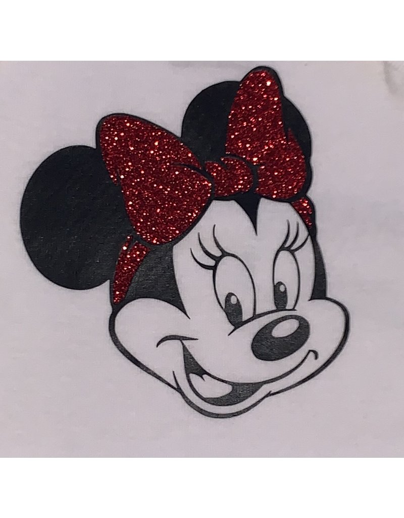 Minnie with Red Glitter Bow Onesie