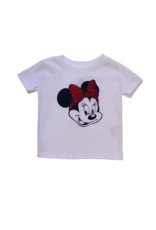 Minnie with Red Glitter Bow Shirt