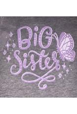 Big Sister Butterfly Gray Short Sleeve Shirt
