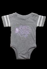 Little Sister Butterfly Short Sleeve Onesie