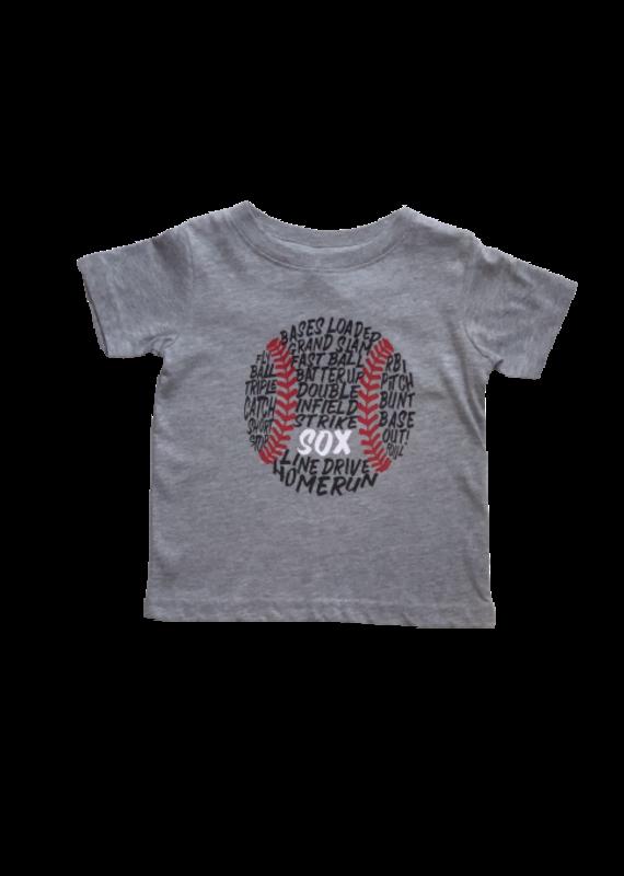 SOX Gray Shirt with  Baseball Words