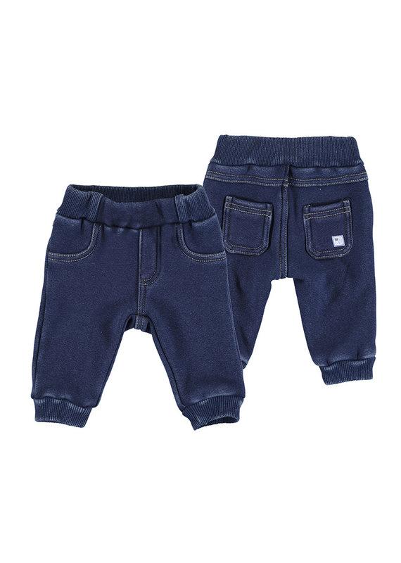 Denim Fur Trousers