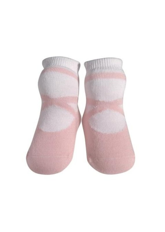 Jazzy Toes Pink Ballet Slipper Sock  0-12m