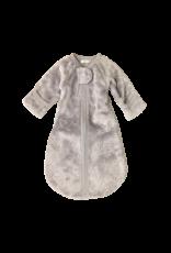 Itty Bitty Clothing Company Plush Sleep Sack Silver