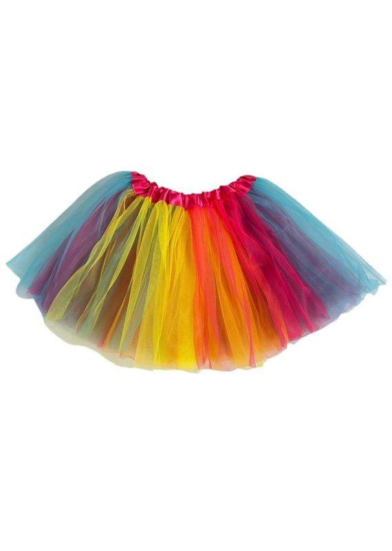 Tutu Toddler Girl Bright Rainbow