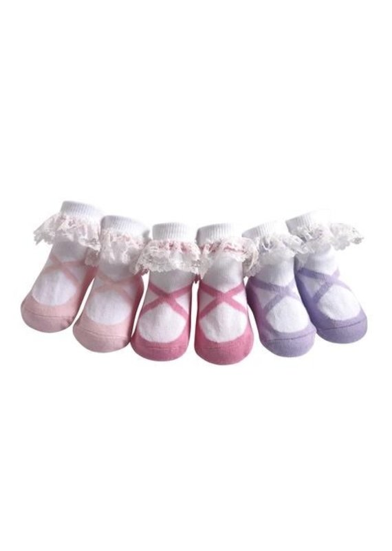 Jazzy Toes Lacey Ballerina Socks 0-12m