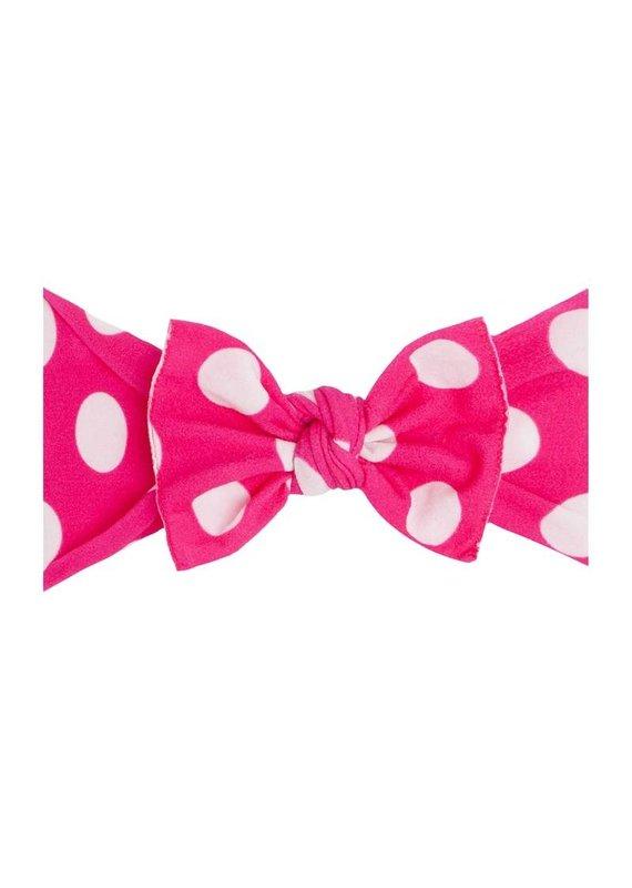 Printed Knot Hot Pink Polka Dot