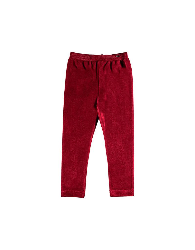 Red Basic Velvet Leggings