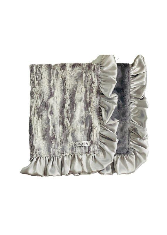Steel Jupiter Double Plush Blanket