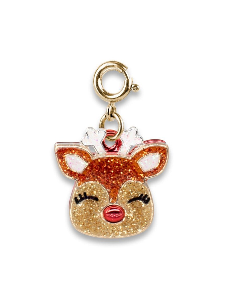 CHARM IT! Gold Glitter Reindeer Charm