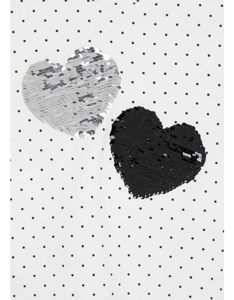 Natural Black Long Sleeve Printed