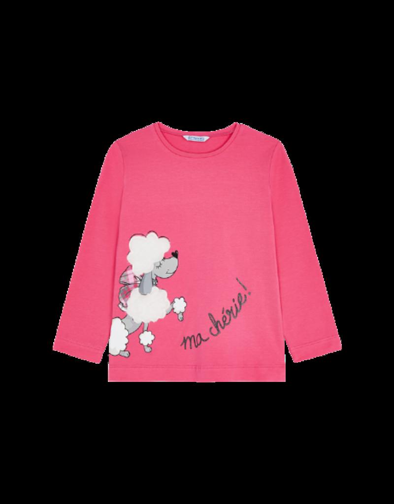 Fuchsia Poodle Long Sleeve Shirt