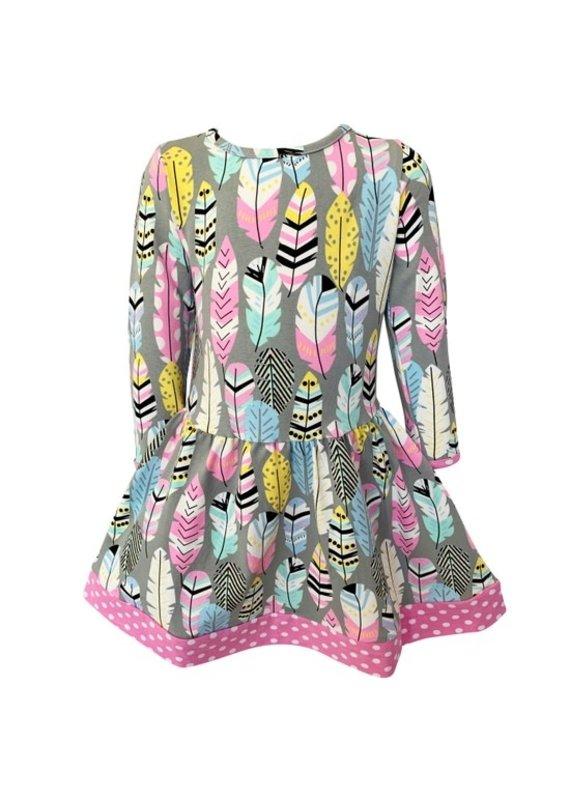 Feather Dot Dress