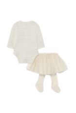 Bone Tulle Skirt with Headband Set