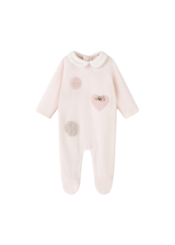 Baby Rose Velour Onesie