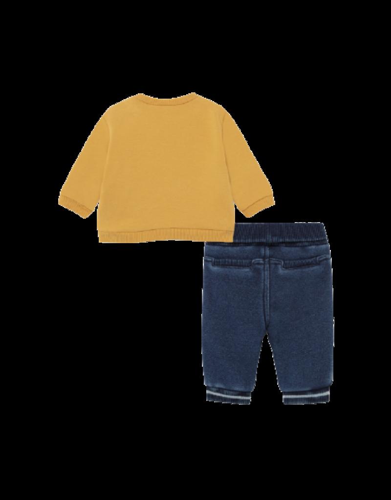 Mustard Denim Long Pant Set