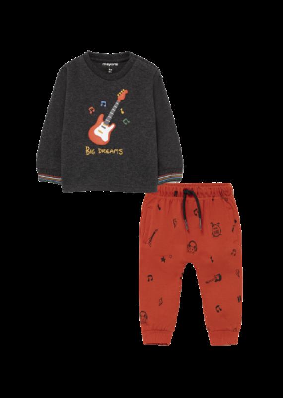 Charcoal Knitwear Guitar Set