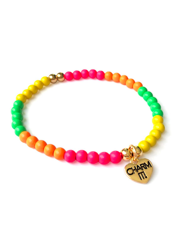 CHARM IT! 4mm Neon Stretch Bead Bracelet
