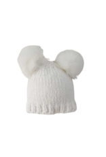 Snowy White Chenille Beanie Hat