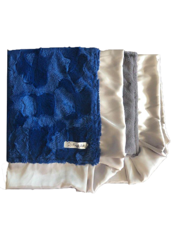 Royal Blue Hide Double Plush Blanket