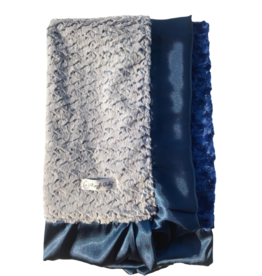 Navy Ridge Double Plush Blanket