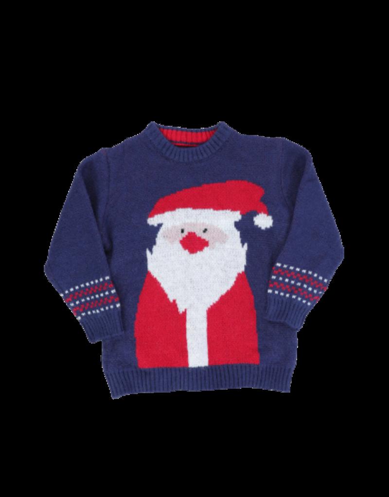 Marie Nicole Clothing Navy Santa Sweater Infant