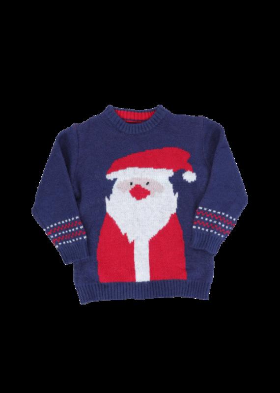 Marie Nicole Clothing Navy Santa Sweater Toddler