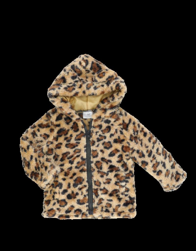 Marie Nicole Clothing Leopard Zip Up Sherpa Hoodie Infant