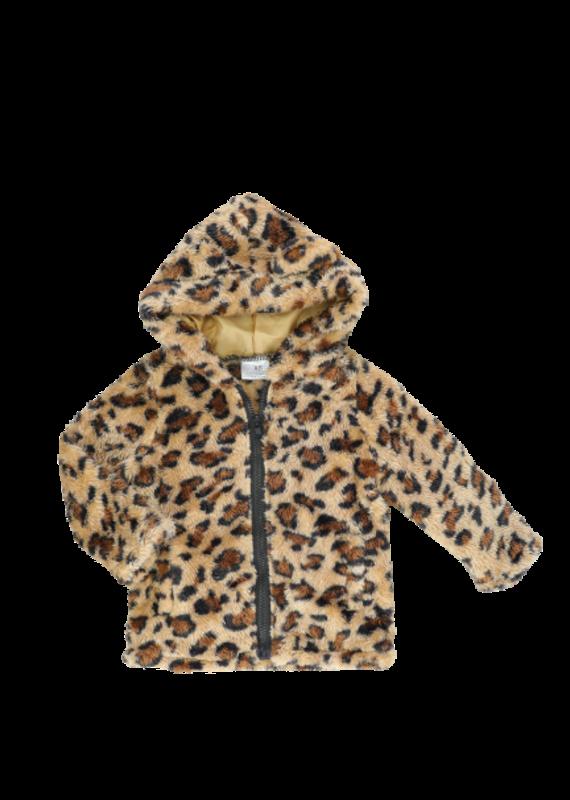 Marie Nicole Clothing Leopard Zip Up Sherpa Hoodie Toddler