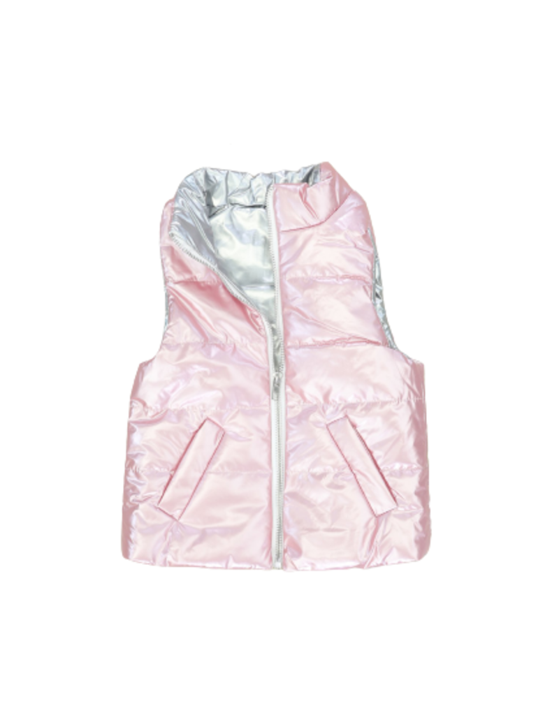 Marie Nicole Clothing Pink Puffy Vest