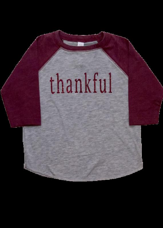 Thankful Baseball Tee Toddler Girl