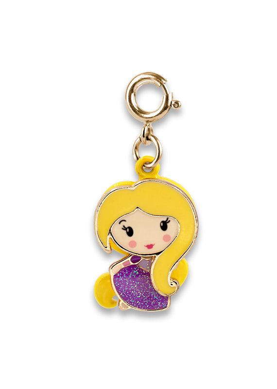 CHARM IT! Gold Swivel Rapunzel Charm