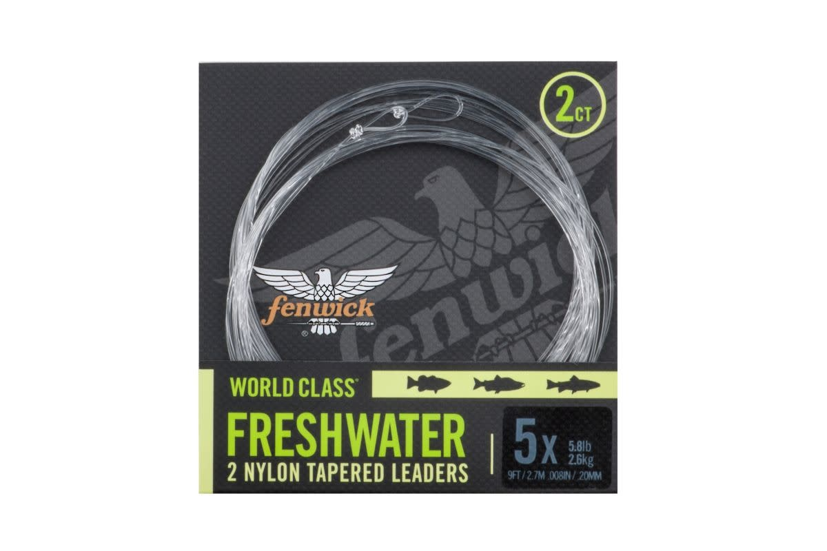 Fenwick World Class Freshwater Fly Leader 2 Pack