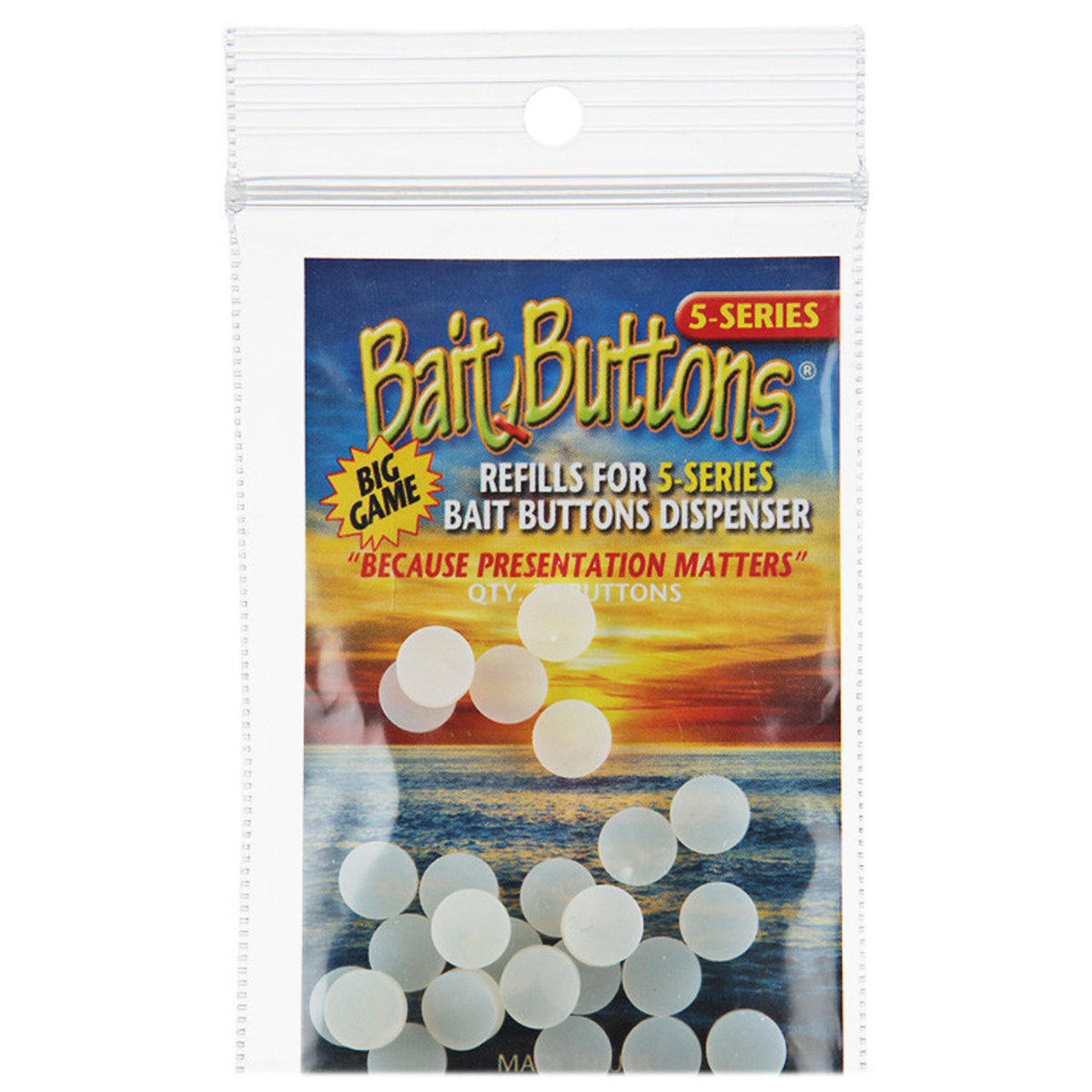 Bait Button Bait Button Big Game Series 25 QTY Refill