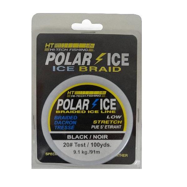 HT Polar Ice Braided Black Dacron Line