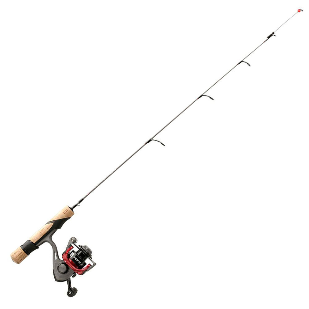 "13 Fishing Infrared Tickle Tip 25"" Light Ice Combo"