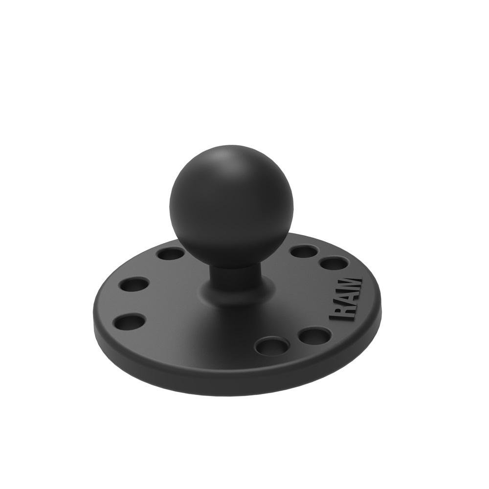 "Ram ® 2.5"" Round Plate with  1"" Ball RAM-B-202"