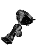 Ram Twist-Lock™ Low Profile Suction Cup Double Ball Mount