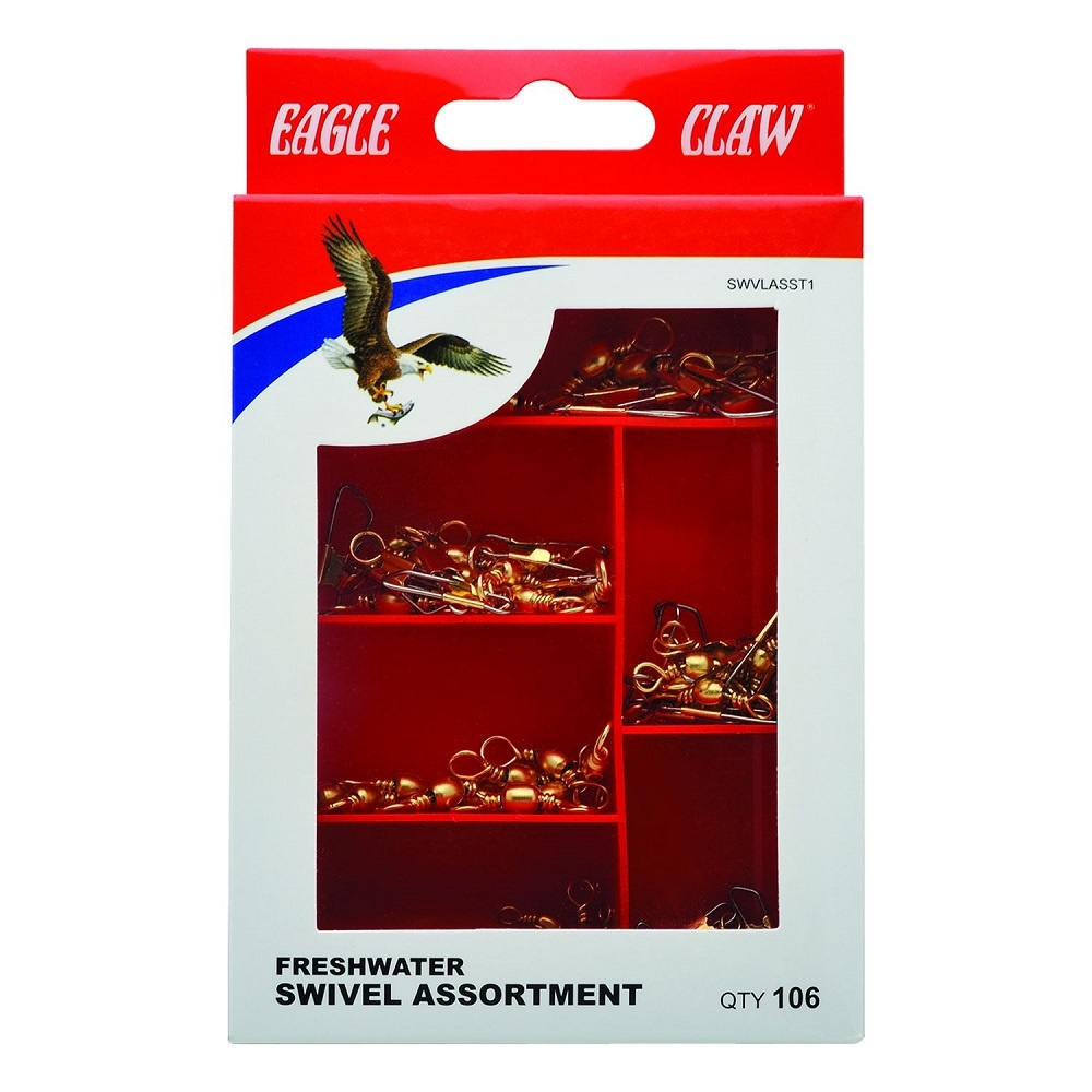 Eagle Claw Freshwater Swivel Assortment 106 Piece