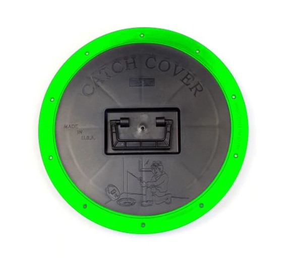 Catch-Cover Round Hole Cover with Hi-Viz Green Ring