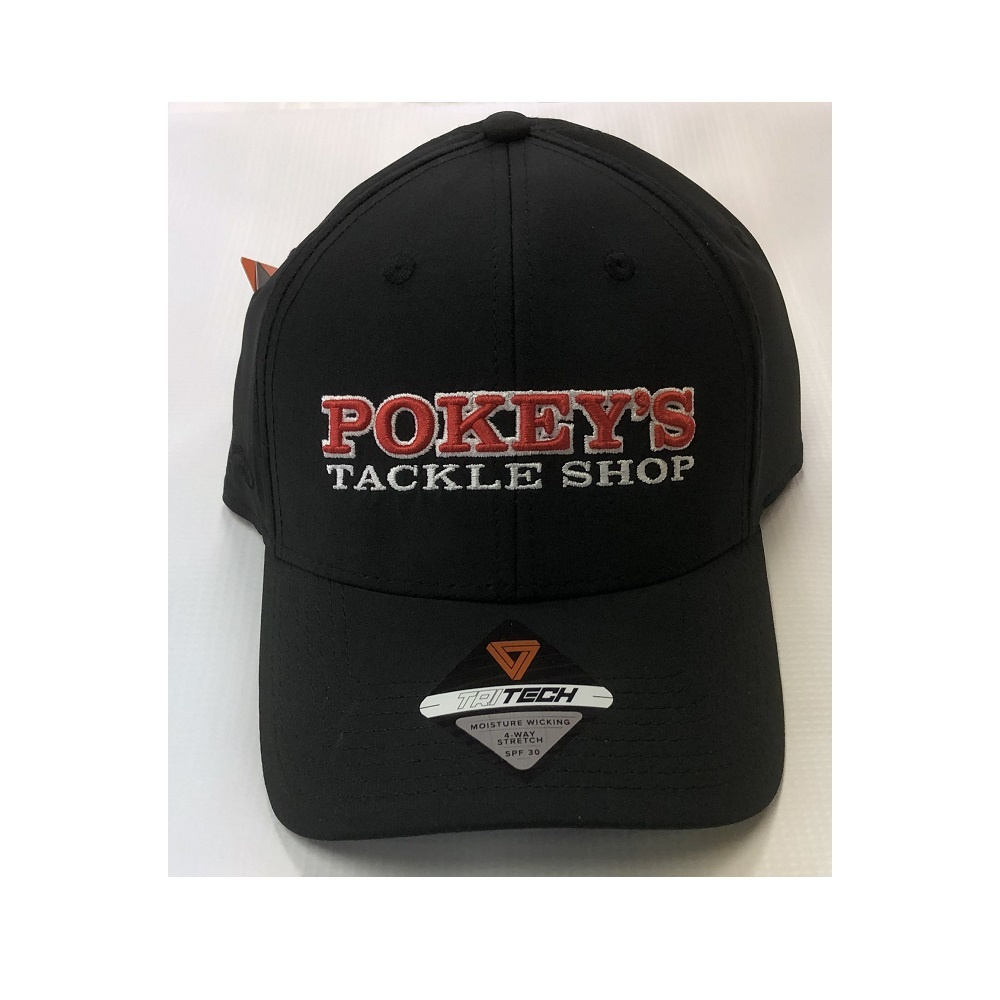 Pokey's Tackle Shop Pokey's Tritech Hat Black